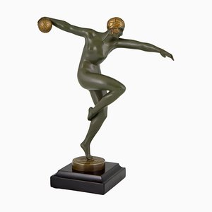 Art Deco Bronze Sculpture by Maurice Guiraud Riviere, 1920s