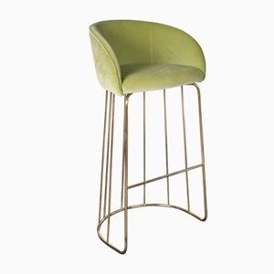 Light Green Nobili Velvet Louise Stool from Vgnewtrend
