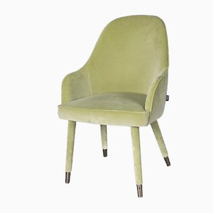 Light Green Nobili Velvet Paulette Armchair from Vgnewtrend