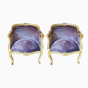 Antique Louis XV Armchairs, Set of 2