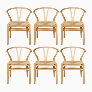 Wishbone Chairs by Hans J. Wegner for Carl Hansen & Søn, 2000s, Set of 6