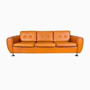 Vintage Leather Sofa by Svend Skipper for Skipper, 1970s