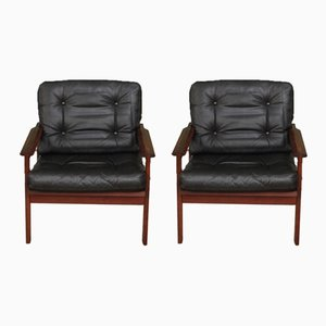 Rosewood Capella Armchairs by Illum Wikkelsø, 1960s, Set of 2