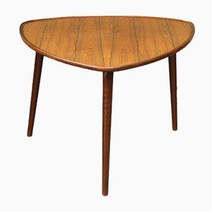 Mesa de centro danesa de palisandro con trípode, años 50