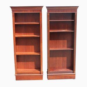 Mahogany Open Bookcases, 1960s, Set of 2