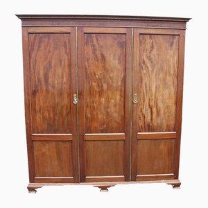 Kleiderschrank aus Mahagoni mit 3 Türen, 1920er