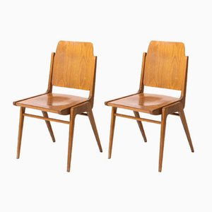German School Chairs, 1950s, Set of 2