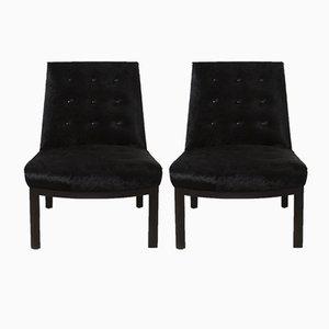 Vintage Slipper Stühle mit brasilianischem Rindslederbezug von Edward Wormley für Dunbar, 1950er, 2er Set
