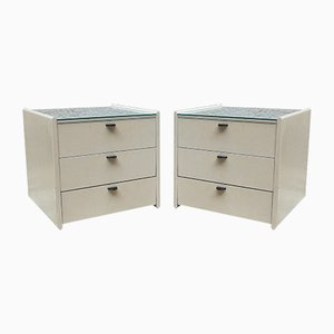 Italian White Lacquered Nightstands from Gavina, 1960s, Set of 2