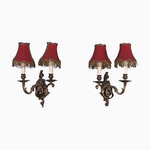 Applique antiche in bronzo, set di 2