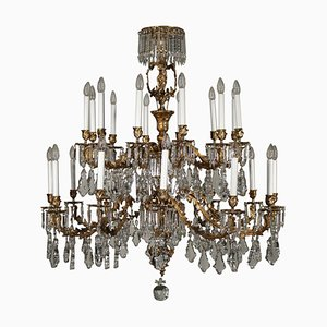 Antique Chandelier with Crystal Drops