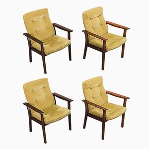 Vintage Rosewood Diplomat Chair by Arne Vodder for Sibast, 1960s, Set of 4