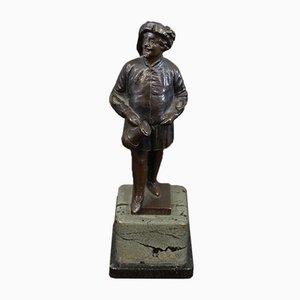 Escultura The Drinker Falstaff antigua de bronce de Ernst Beck