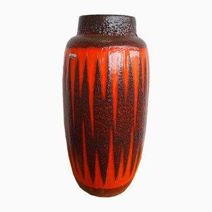 Jarrón Fat Lava Mid-Century de cerámica de Scheurich, años 60