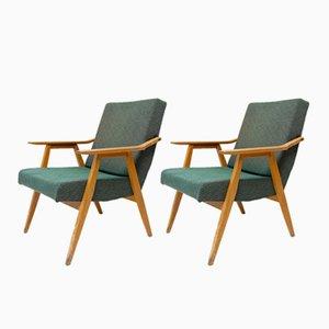 Tschechische Mid-Century Sessel, 1960er, 2er Set