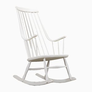 Vintage Swedish Rocking Chair by Lena Larsson for Nesto, 1960s
