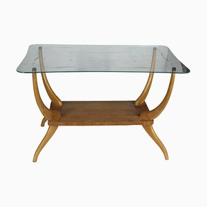 Italian Light Wood Coffee Table, 1950s