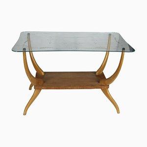 Italian Light Wood Coffee Table, 1950s