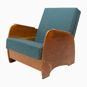 Art Deco Style Adjustable Armchair, 1940s