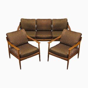 Set da salotto in teak di Walter Knoll, Danimarca, anni '60