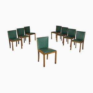 Sedie antiche in noce, inizio XX secolo, set di 8