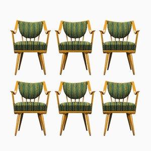 Deutsche Armlehnstühle aus Buche von Casala, 1950er, 6er Set