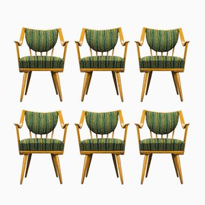 German Beech Armchairs from Casala, 1950s, Set of 6