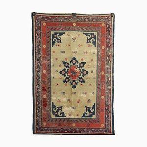 Chinese Cotton & Wool Pekino Carpet, 1920s