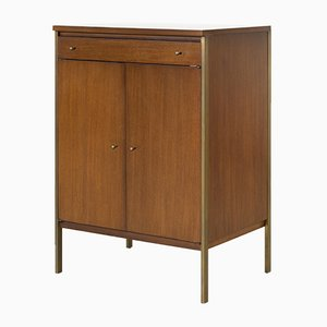 Vintage Walnut Cabinet by Paul McCobb for H. Sacks and Sons, 1950s