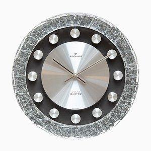 Reloj de pared era espacial de cristal de hielo de Junghans, años 70