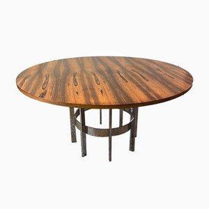Mesa de comedor de palisandro y cromo de Richard Young para Merrow Associates, años 70