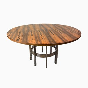 Rosewood & Chrome Dining Table by Richard Young for Merrow Associates, 1970s
