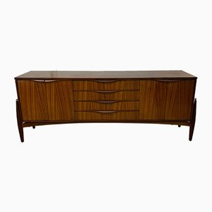 Vintage Zebrano Sideboard from Elliots of Newbury, 1960s