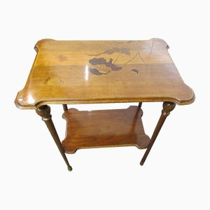 Mesa de té modernista de marquetería de E. Gallé