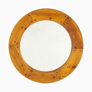 Espejo sueco redondo de Uno & Östen Kristiansson para Luxus, años 60