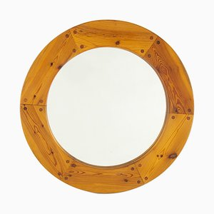 Round Swedish Mirror by Uno & Östen Kristiansson for Luxus, 1960s