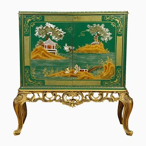 Barocchetto Style Lacquered Chinoiserie Bar, 1960s