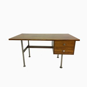 Rosewood & Steel Desk by Alfred Hendrickx for Belform, 1960s