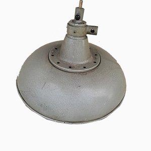 Lámpara de techo industrial Mid-Century de aluminio, años 50