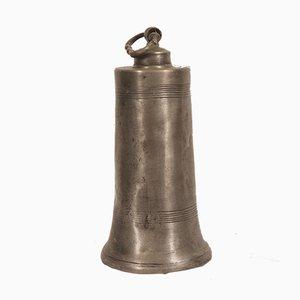 Antike deutsche Trinkflasche aus Zinn, spätes 18. Jh.