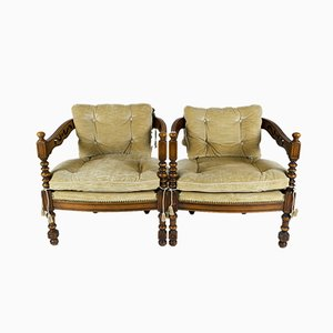 Gallery Collection Armchairs from Giorgetti, 1970s, Set of 2