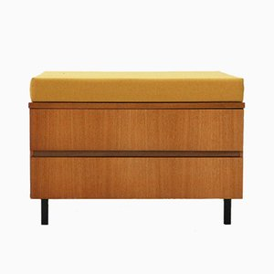 Teak Chest of Drawers with Seat Pad, 1960s