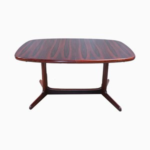 Danish Oval Rosewood Dining Table, 1960s