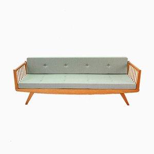 Sofá cama de tres plazas de haya, años 50