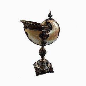 Silberner antiker Neptun Pokal von Guy Lefevre für Koch und Bergfeld, 1882