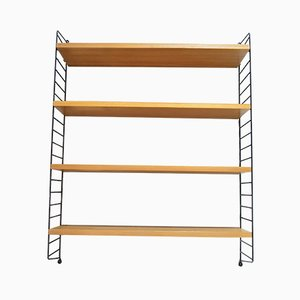 Mid-Century String Wall Shelf by Nisse Strinning, 1950s