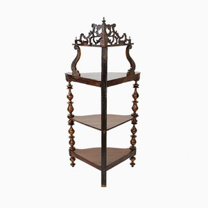 Antique 4 Tier Corner Stand