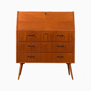 Walnut Secretaire, 1950s