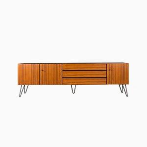 Vintage Walnut Veneer Sideboard, 1960s