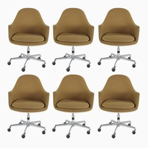 Fibreglass Swivel Chairs by Charles & Ray Eames for Herman Miller, 1970s, Set of 6
